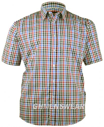Metaphor 'Joseph' Check Short Sleeved Shirt